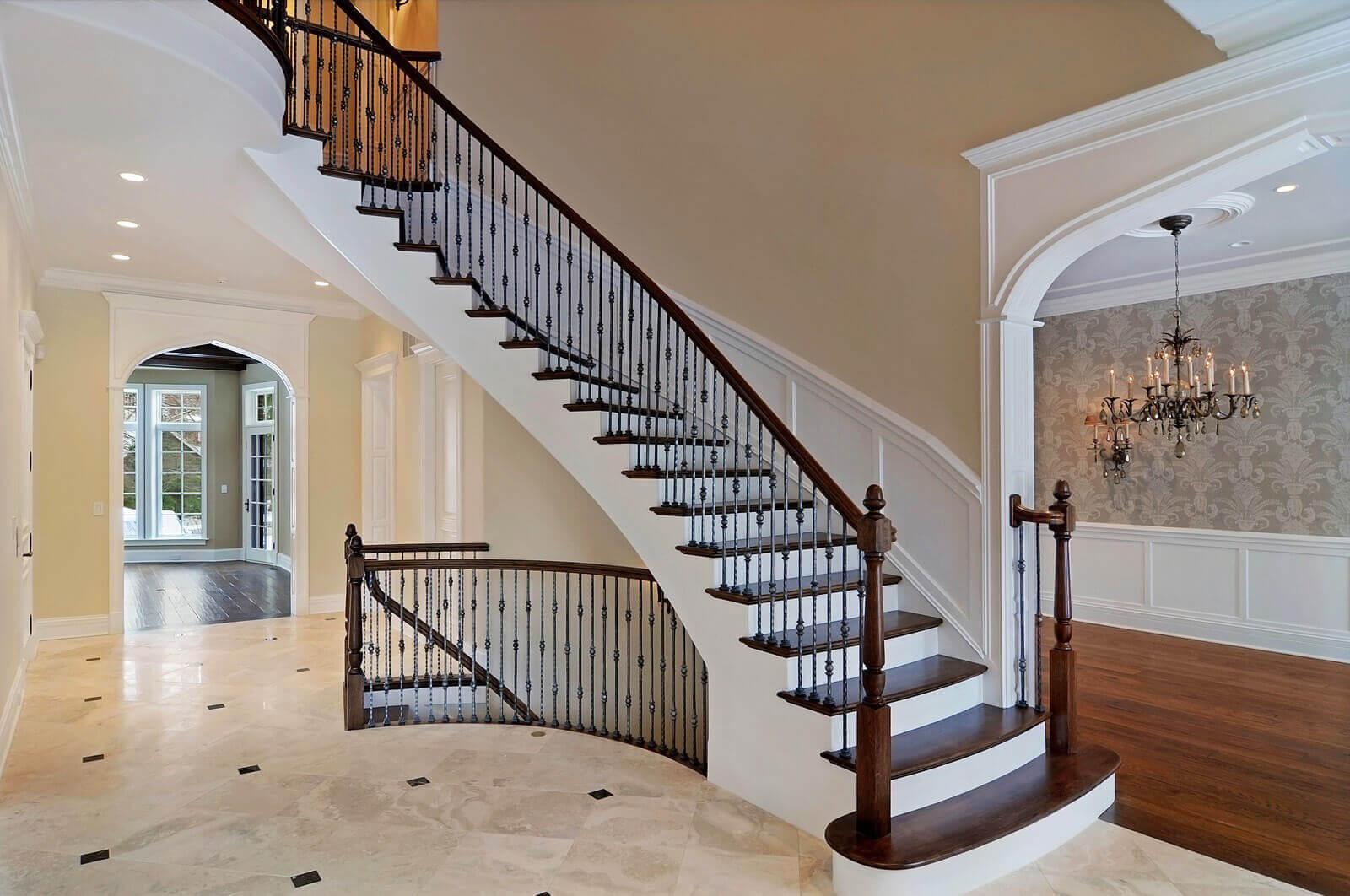 Бетонные лестницы на второй этаж фото